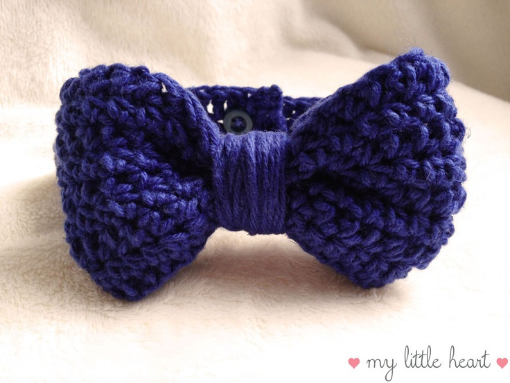 Crochet Pattern For Baby Thongs : Dapper Bow Tie - Crochet Bow Tie