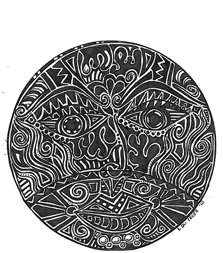 Swirl of face - Louise Palmer | Elaborate Doodles & Tattoos | Pintere ...