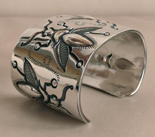 McKee Platero, Navajo, silversmith, bracelet