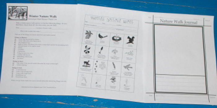 winter scavenger hunts and journal page