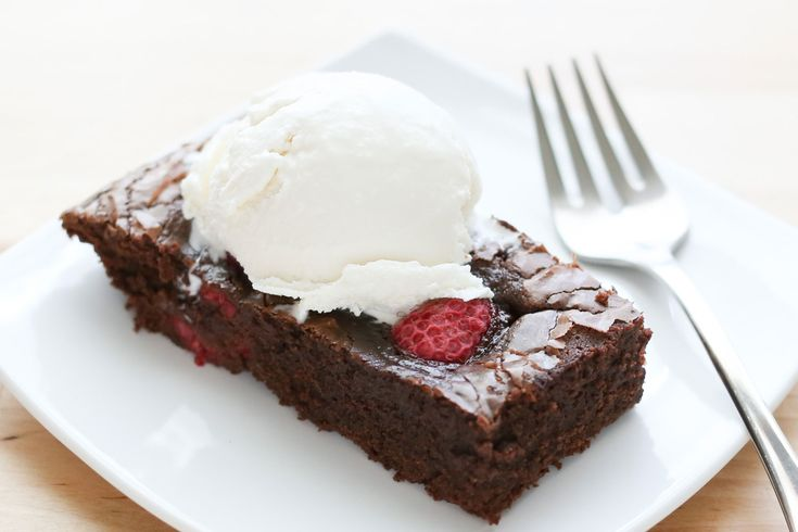 Chocolate Raspberry Brownies, gluten free and traditional recipes by ...