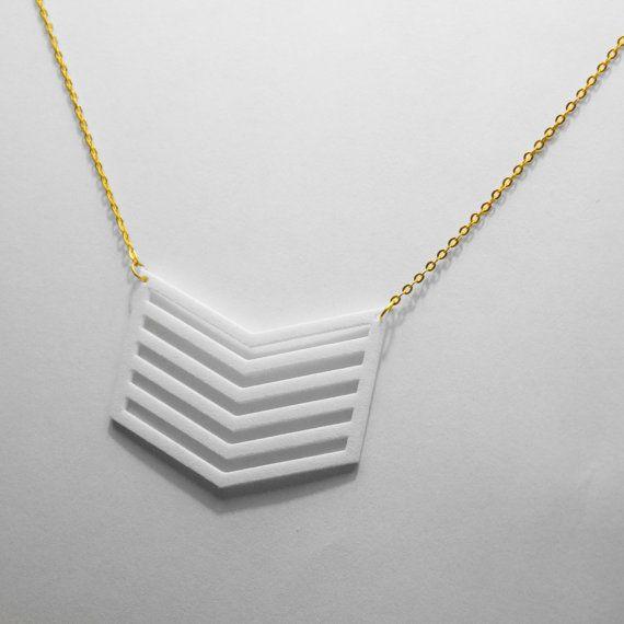 3d printed chevron necklace