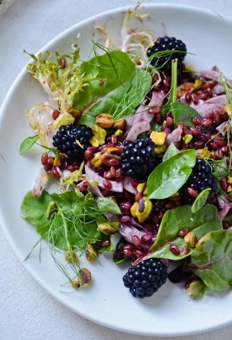 Summer Salad with Blackberry Vinaigrette--summer on a plate! #gluten ...