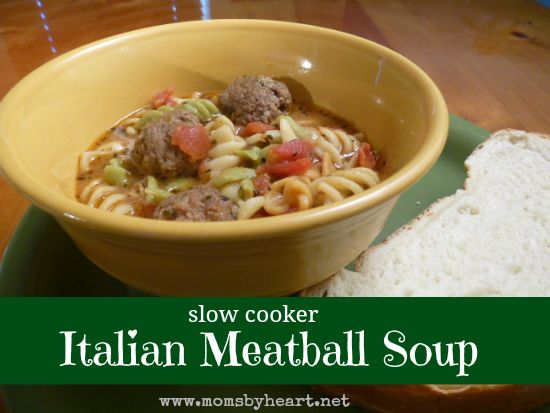 italian meatball soup - this is a family favorite, and easy to make in ...