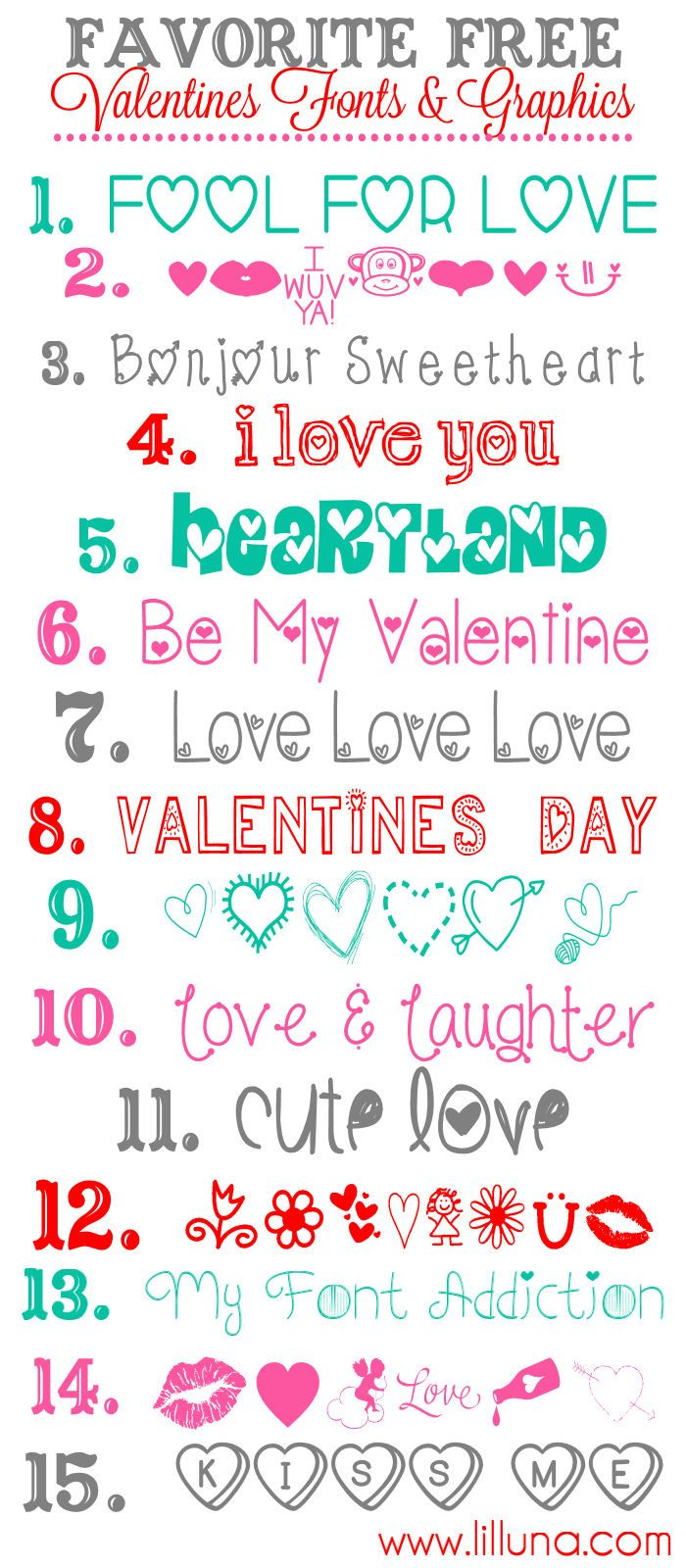 Valentines da fonts