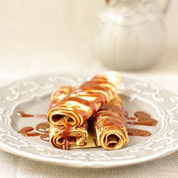 French crepes with salted butter caramel coulis. Robuchon's recipe [in ...
