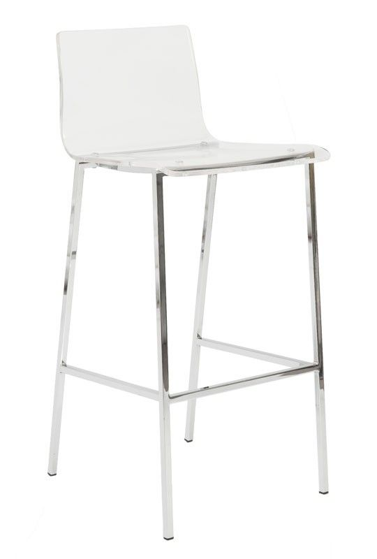 Crystal Clear Bar Stool Acrylic Chrome The Crib Pinterest
