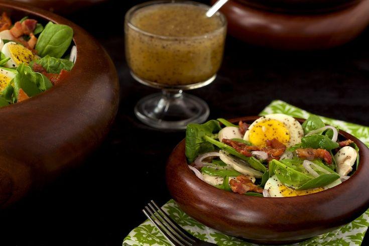 Spinach Salad w/ Honey Poppy Seed Dressing | Recipe