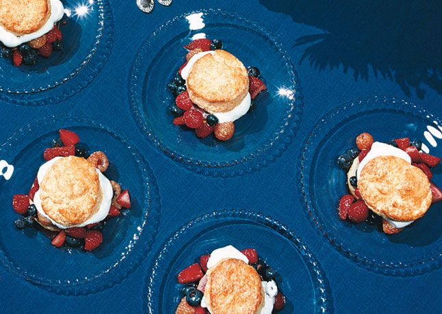 Mixed-Berry Shortcakes with Vanilla Whipped Cream | Recipe