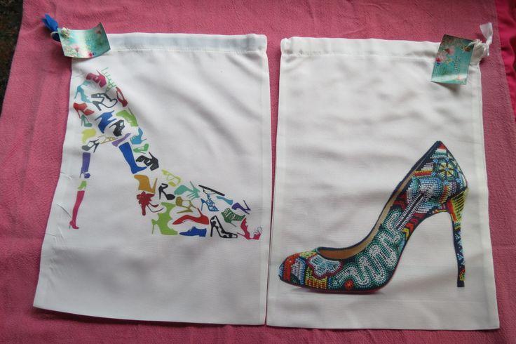 Bolsas de tela para zapatos manualidades pinterest - Baldas para zapatos ...