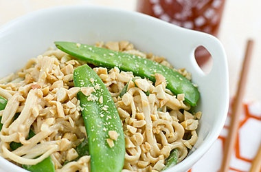 ... and snow peas peanut udon noodles with snow peas recipes dishmaps