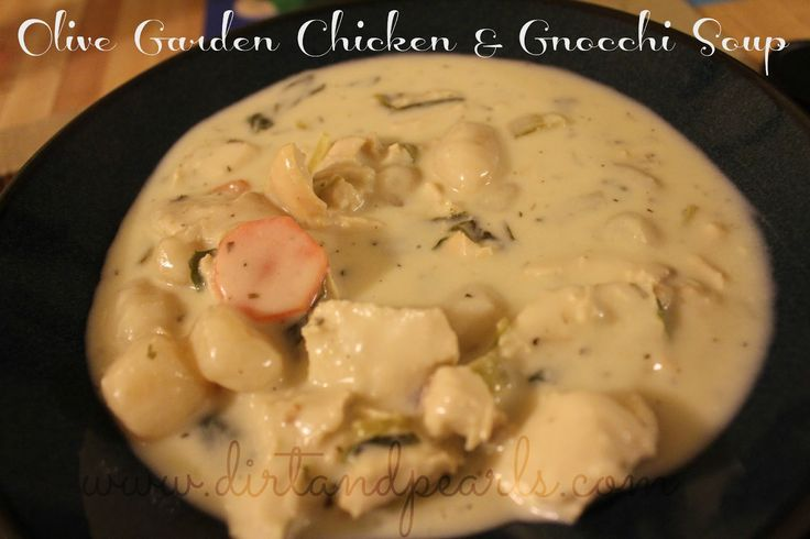 Dirt and Pearls: Olive Garden Copycat {Chicken & Gnocchi Soup}