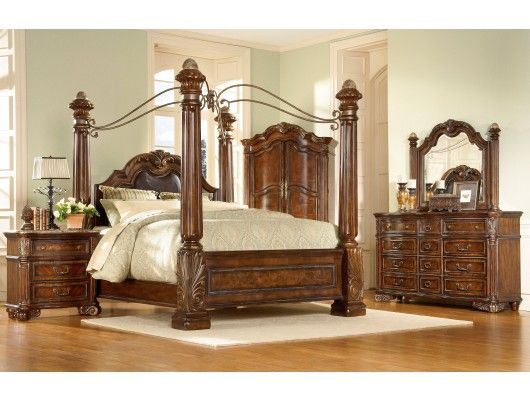 Milano Canopy Bedroom Set Max Furniture