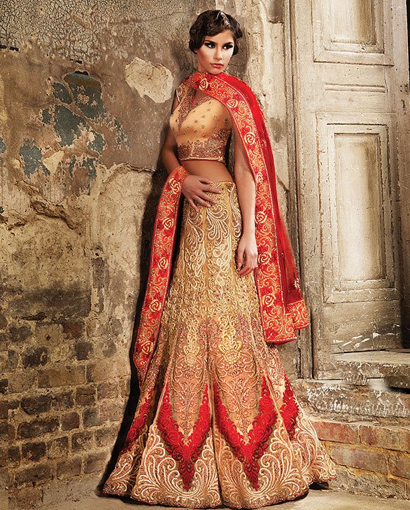Fusion wedding gown lavish indian weddings pinterest for Indian fusion wedding dress