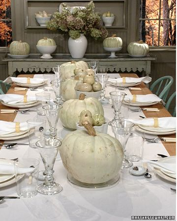 White pumpkins centerpieces 60 birthday party pinterest for White pumpkin table decorations