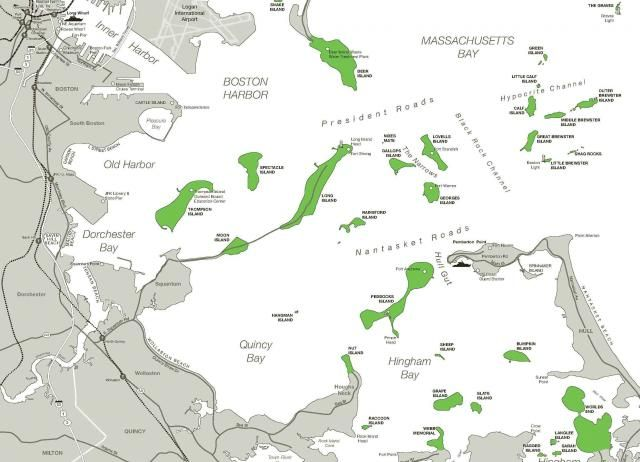Boston Harbor Islands Map  New England Maps  Pinterest