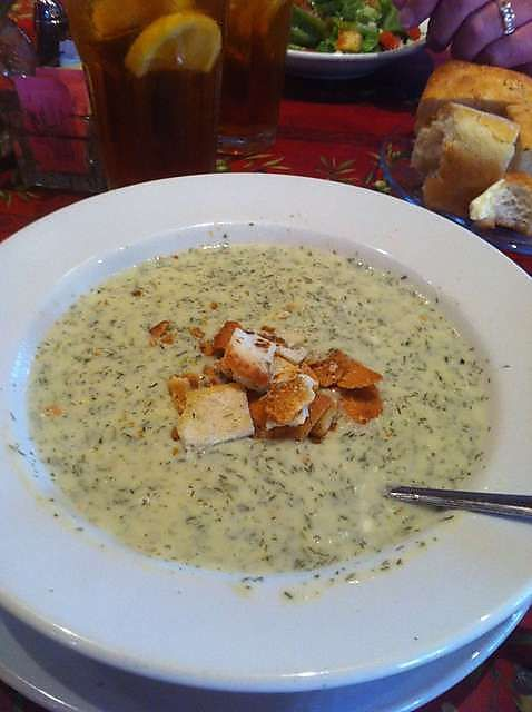 White Cheddar Dill Soup-Oak Street Bistro.. Need this recipe :)