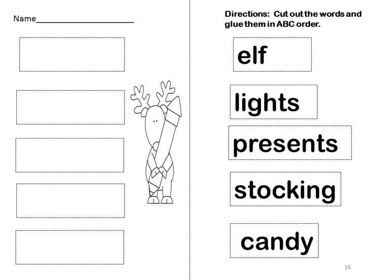 Christmas Language Arts Worksheets : Christmas sentence scrambles more language arts