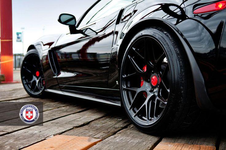 Corvette Z06 on HRE P40SC in Semi-gloss Black