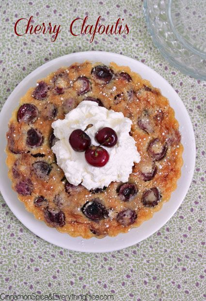 Sweet Cherry Clafoutis...this recipe looks yummy!