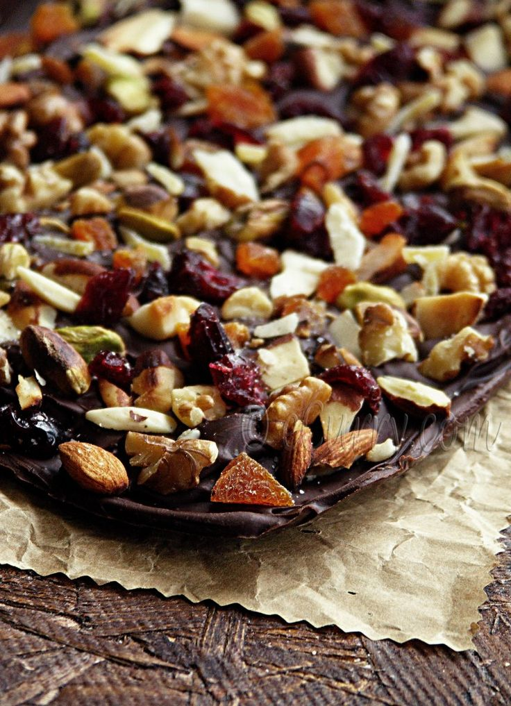 Dried Fruit and Nut Chocolate Bark | Holidays | Pinterest