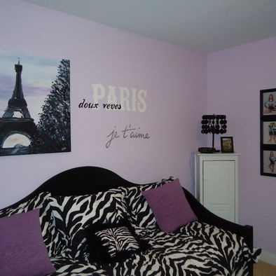 Girls bedroom paris themed room pinterest - Purple themed bedroom ideas ...