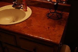brown paper bag countertop for the home
