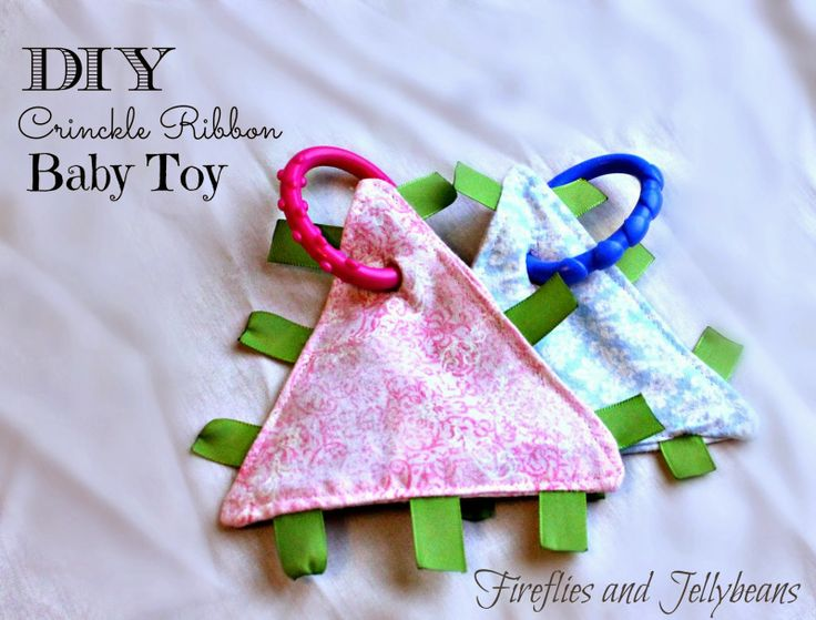 DIY Crinkle Ribbon Baby Blanket Toy | Sewing | Pinterest