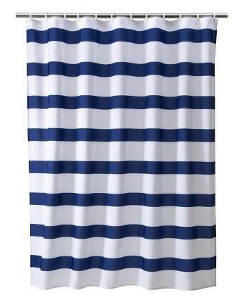 Nautical Stripe Shower Curtain Coop 39 S Alligator Crocodile Bath Pinterest