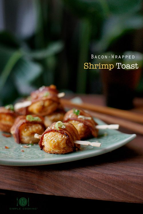 Bacon Wrapped Shrimp Toast | Appetizers & Starters: Hot | Pinterest