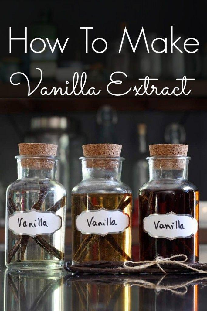 How To Make Vanilla Bean Extract | 4 whole vanilla beans 2 cups vodka ...