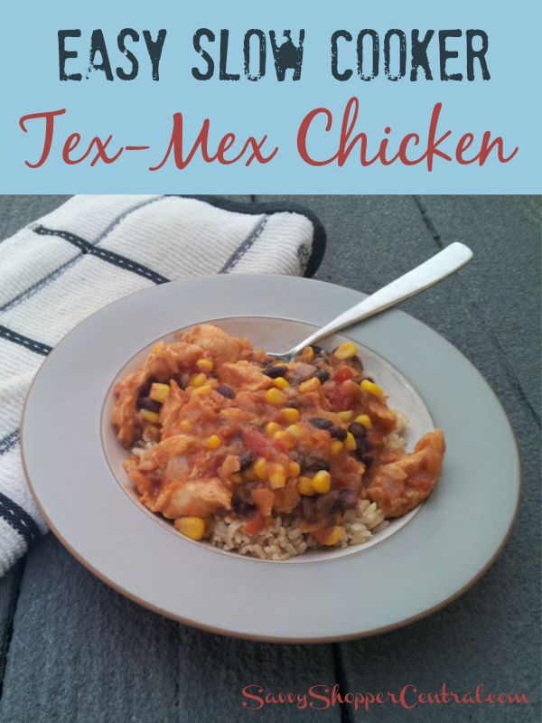 Slow-Cooked Tex-Mex Chicken And Beans Recipe — Dishmaps