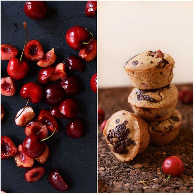 Vegan Dark Chocolate Cherry Muffins