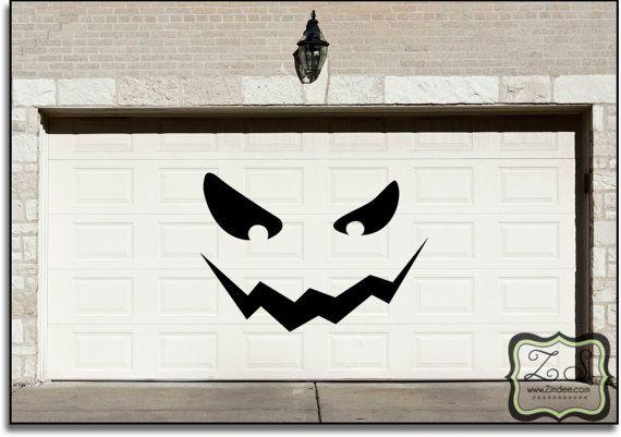 Decorating Ideas > HUGE Jackolantern Garage Halloween Decoration Decal 80w  ~ 013644_Halloween Garage Door Decals