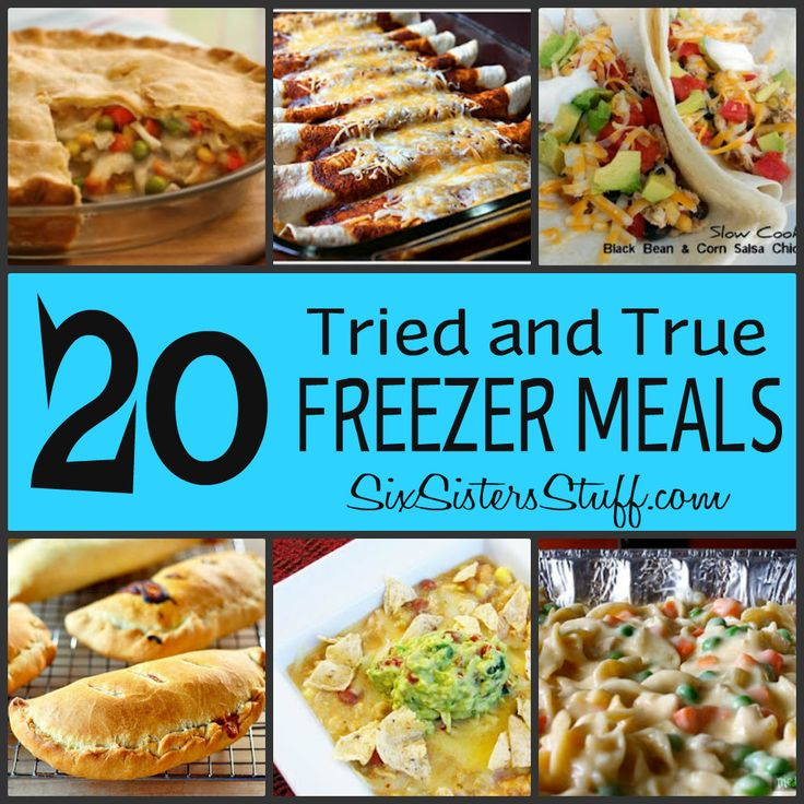 Six Sisters' Stuff: Fresh Food Friday: 20 Tried and True Freezer Meals