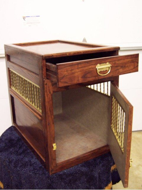 dog crate home pinterest With dog crate end table with drawer