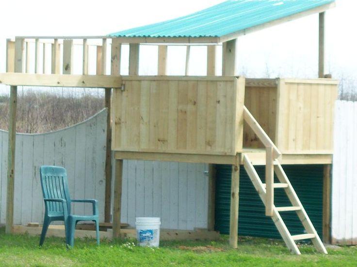 backyard fort for the kiddies pinterest