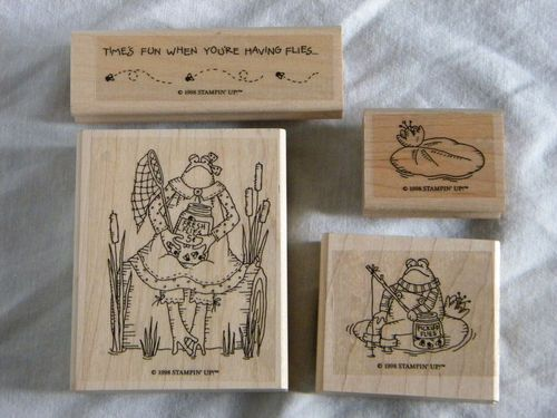 stampin up frogs and flies coloring