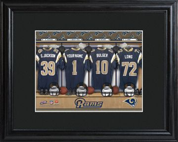 St. Louis Rams Locker Room Photo