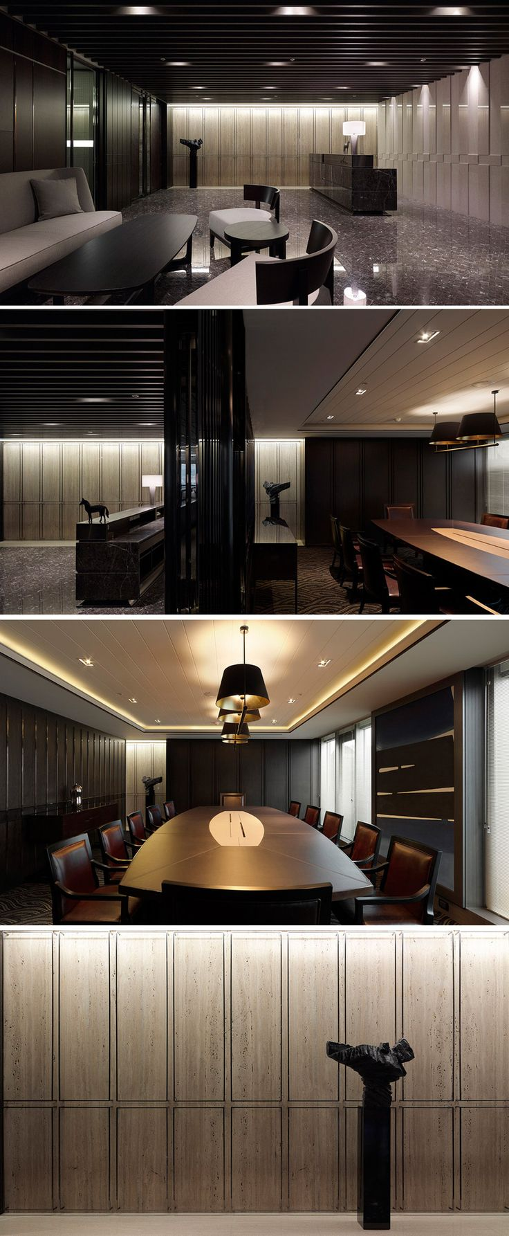 minimal luxury office design offices pinterest