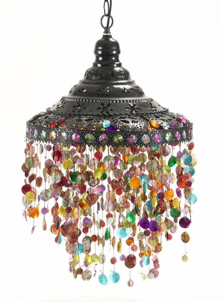 beaded hanging lamp op36 casa uno luminous lighting