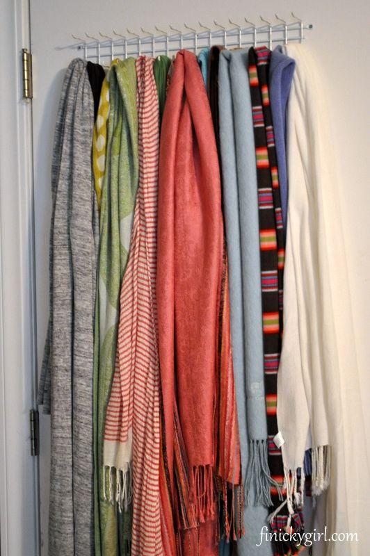 scarf storage scarf storage