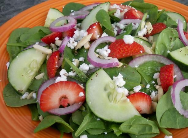 Strawberry Spinach Salad from Food.com: A wonderful summer salad ...