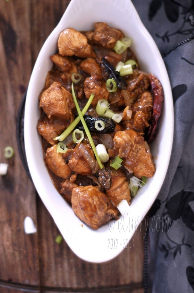 Stir fried chicken in chili soy sauce