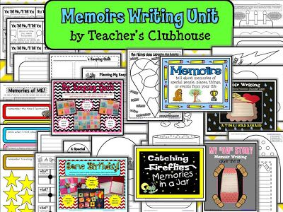 Memoir Writing Unit - Tons of activities for prewriting, publishing and sharing!