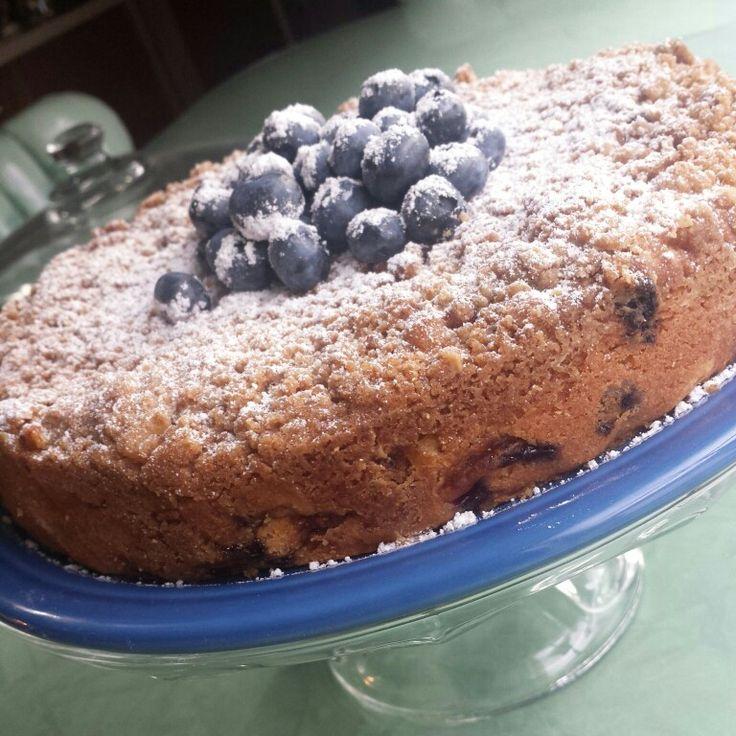 Peaches And Blueberry Coffee Cake Recipe — Dishmaps
