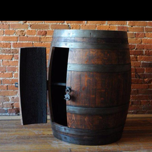 Man Cave Cabinet Ideas : Wine barrel cabinet mancave pinterest