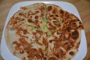 Gluten Free Chicken, Broccoli, And Cheese Quesadillas Using Udi's Large Tortillas