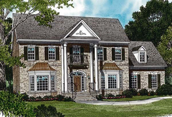 Colonial Traditional House Plan 97048