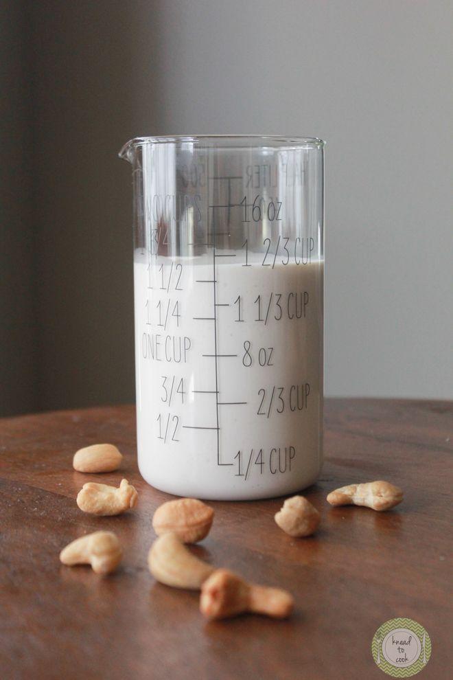 Cashew Cream (recipe typo says raw almonds, but it should be cashews ...
